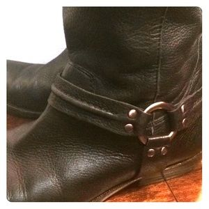 Franco Sarto black leather tall boots Sz 8.5